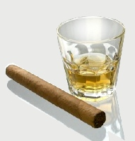 A scotch and a cigar